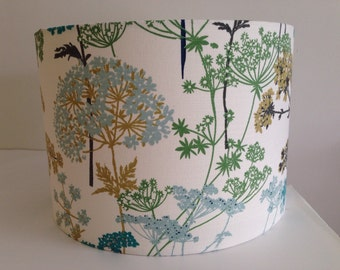 iLiv Hedgerow Fabric Handmade Lampshade in Pistachio