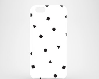 Black and White shapes phone case / glossy case / Black and white iPhone 7 Plus case / iPhone and Samsung Galaxy S cases / minimalist design