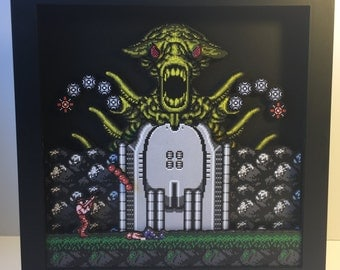Contra for Nintendo Shadow box