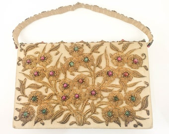 Jewelled Clutch Bag - 1950s