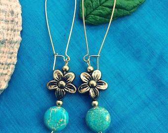 Imperial flower drop earrings