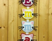 Name Banner - Cat Banner - Puppy Banner - Star Banner - Personalized Name Banner - Childs Door Hanging - Childs Wall Hanging - Nursery Decor