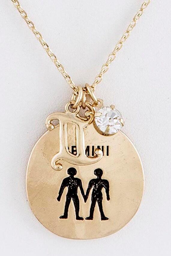 gemini zodiac charm necklace zodiac necklace by