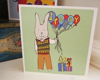 1 Today! - 1st birthday card.