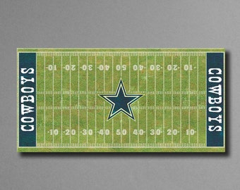 "Dallas Cowboys Football Field Canvas Art, 12""x24"" Stretched Canvas Ready to Hang!"