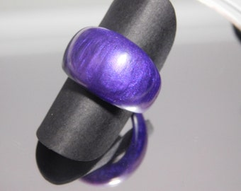 Gorgeous purple ring handmade