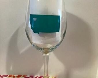 Custom State Stem Wine glass