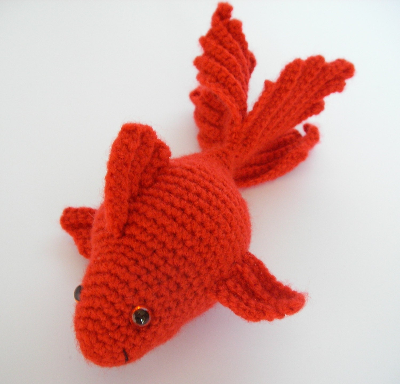 Вязание крючком рыбки 4