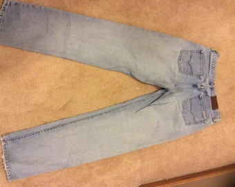 Women's Vintage Guess jeans stonewashed button fly size 28