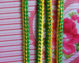 1-2 Color Single Weave Hawaiian Ribbon Lei