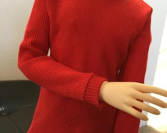 BJD SD long sleeved red thermal shirt