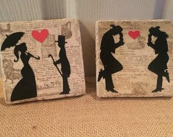 Wedding tiles/coasters