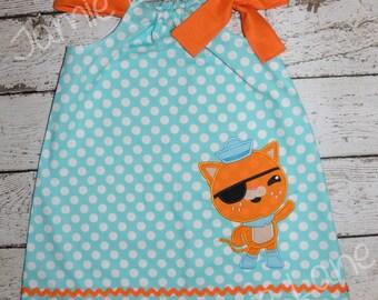 Octonauts Kwazii Kitty Pillowcase Style Dress