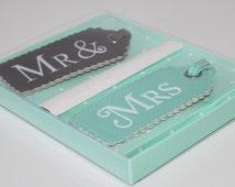 Mr and Mrs Luggage Tags Wedding gift honeymoon Bridal present