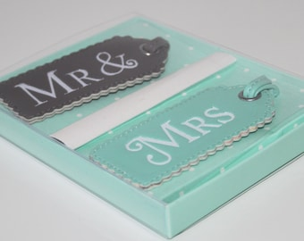 Mr and Mrs Luggage Tags Wedding gift honeymoon Bridal present