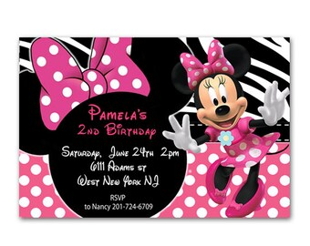Disney Minnie Mouse Birthday invitation - Digital File