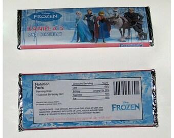 Digital File - Disney Frozen Birthday Candy Bar Wrapper