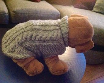 aran style dog jumper