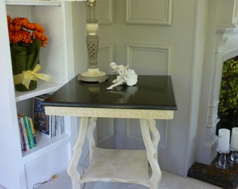 SOLD   Occasional Table, Solid Oak. Annie Sloan Chalk Paint, shabby chic, repurposed, chalk paint, hand painted, distressed.