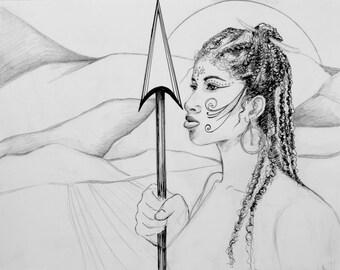 Warrior Woman - print