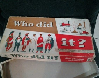 Vintage Who did it? Game