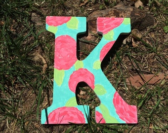 Lilly Puliter Inspired Hand Painted Initial featured in First Impression