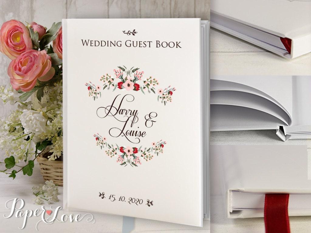 Livre Dor Personnalis Cadeau De Mariage Rustique Livre