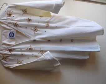 2 pc White Embellished Pant Set