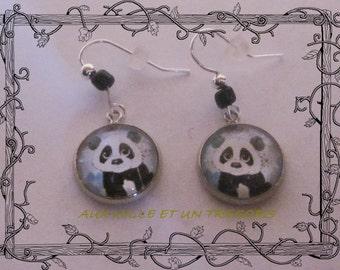 panda earrings for child