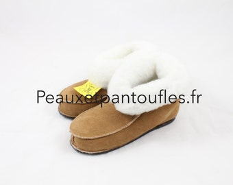 Back - by peauxetpantoufles.fr sheep skin slippers