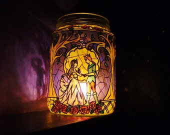 Midsummer Night's Dream Stained Glass Candle Jar