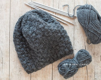 Pure Wool Hat / Handknitted Hat / Oversized Hat (h-0007)