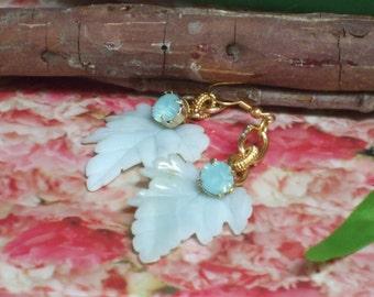 Jade Leaf Earrings