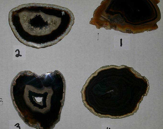 Black Agate Slab- 3 inch from Brazil- PICK YOURS! AAA Grade Agate SlabsHealing Crystals \ Reiki \ Healing Stone \ Healing Stones \ Chakra
