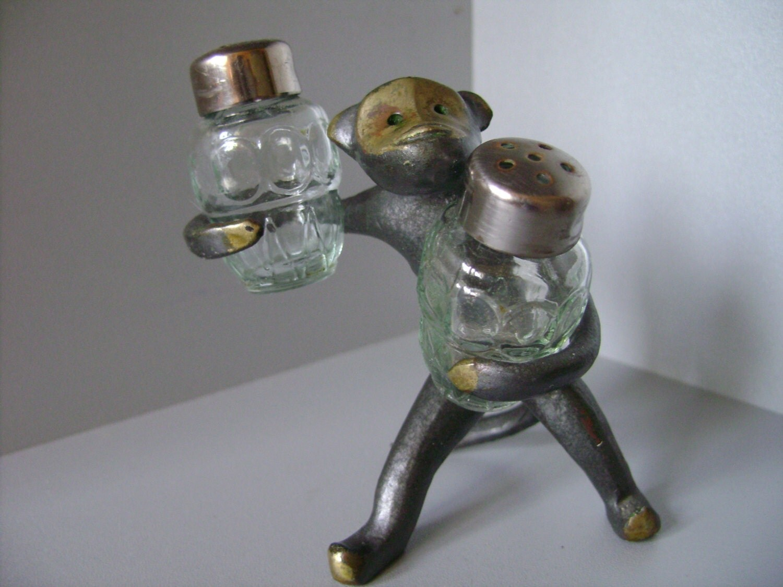 Vintage Glass Salt And Pepper Shakers Soviet By Spiritoftime