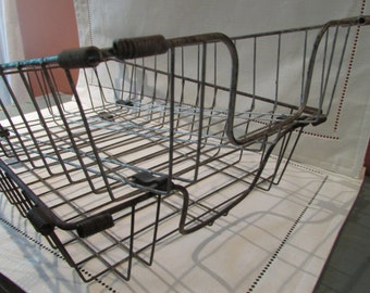 Vintage Metal Wire File Basket