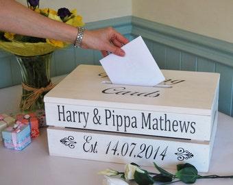 Personalised Wedding Card Post Box / Crate - wedding memories keepsake box