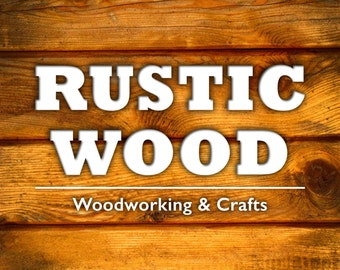 RUSTIC WOOD Etsy Cover Photo, Shop Icon, Shop Banner personalized with your shop name • Premade Shop Banner, Banner Set, Woodworking Banner