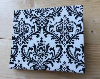 Pocket Flock Book   Coptic Stitch   Sketchbook   Journal   Notebook