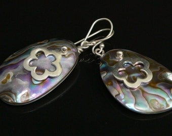 Paua Shell and Sterling Silver