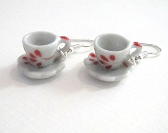 Ceramic Tea Cup Earrings