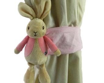 Flopsy bunny curtain  tieback