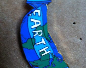 Hand Made Earth Hat Pin