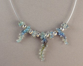 Handmade Art Glass Bead Necklace