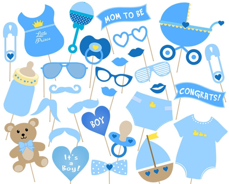 baby shower party photo booth props printable instant