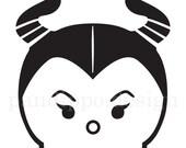 Maleficent Tsum Tsum Inspired Vinyl Decal