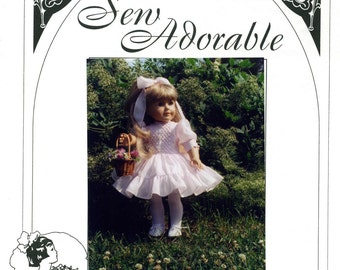 "Sew Adorable 18"" American Girl Doll Clothes Pattern, American made, Party Pearls"