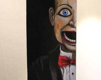 Acrylic painting on canvas. From the horror movie Dead silence.