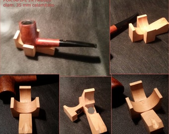 Wooden pipe holder handcrafted