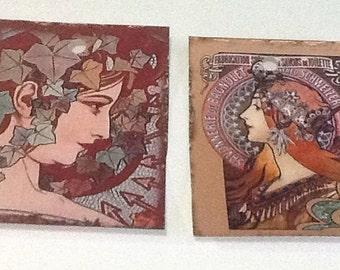 8 Art Nouveau Women Gift/Thank You Tags